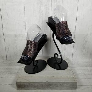 Madeline - Bronze Metallic Slip on Sandal